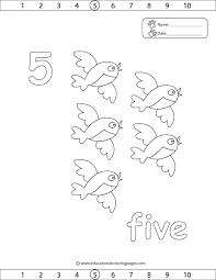 Number 5 Coloring Pages
