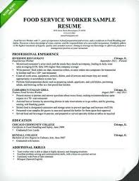 Resume For Food Service Sample Restaurant Supervisor Civil Sales