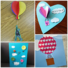 Arts And Crafts For Preschoolers At Home Hot Air Balloon Kids To Mak On