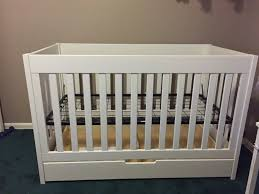 Babyletto Modo 5 Drawer Dresser White by Babyletto Mercer 3 In 1 Convertible Crib With Toddler Rail White