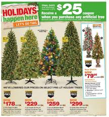 Pre Lit Pencil Christmas Tree Canada by Home Depot Weekly Flyer Black Friday Nov 27 U2013 Dec 3