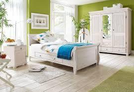 massivholz schlafzimmer set 3teilig komplett kiefer massiv weiß lasiert