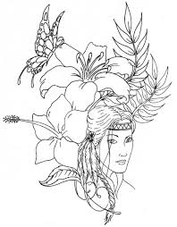 Download Coloring Pages First Nations Native American Printable Beautiful