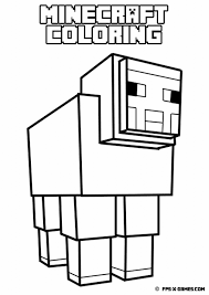 Minecraft Animal Coloring Pages Getcoloringpages In Wolf