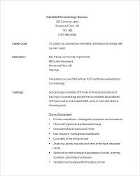 Cosmetology Resume Example Recent Graduate Examples Resumes For Cosmetologist