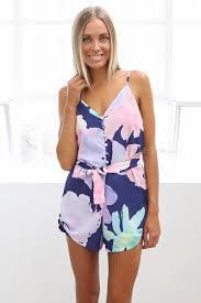 lyla playsuit purple esther clothing australia and america usa
