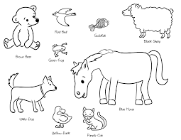 Brown Bear Coloring Pages Page What Do You See Free Online
