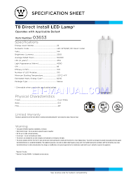 specification sheet for led bulbs westinghouse 22 watt replaces