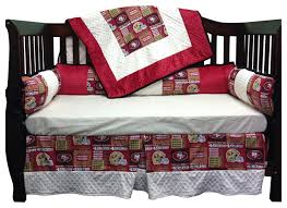 4 Piece Standard Crib Bedding Set Nfl 49Ers Contemporary Baby
