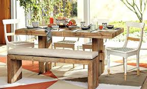 Wooden Kitchen Table With Bench Furniture Vintage Dining Room Rustic House Design Old Oak
