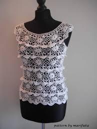 how to crochet ruffle blouse by marifu6a free crochet pattern