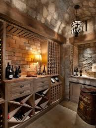 100 Wine Room Lighting Stone Brick And Wood Combine To Create This Neutral Wine