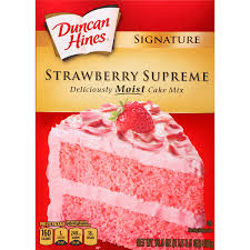 Amazon Duncan Hines Signature Cake Mix Strawberry Supreme 16 5 oz Grocery & Gourmet Food