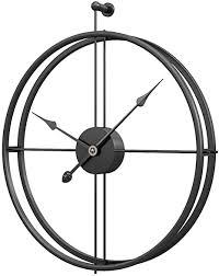 polai 52cm wanduhr metall vintage lautlos uhr für wohnzimmer küche kinderzimmer wall clock