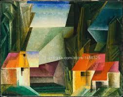 günstige kleine bild die poster wohnzimmer wand malerei lar cubist malerei bilder lyonel feininger amerikanischen