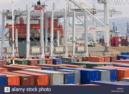 100 Shipping Containers California Oakland Containers Are Loaded Onto A