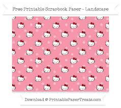 landscape pastel pink star small hello kitty head pattern paper