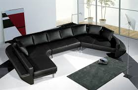 Modern Leather Sectional Sofa Set TOS LF 2056 BK
