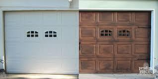 DIY Faux Stained Wood Garage Door Tutorial