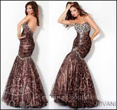 look exotic zebra and tiger print prom dresses
