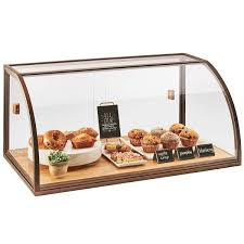 Cal Mil 3611 Arched Sliding Door Vintage Bakery Display Case With Wood Base
