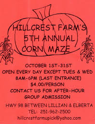 Hillcrest Farms Pumpkin Patch by The 8 Best Corn Mazes In Alabama 2016