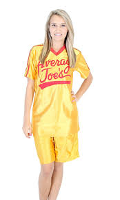 Spirit Halloween Okc Hours by Amazon Com Dodgeball Average Joe U0027s Yellow Jersey Costume