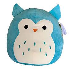 Kellytoy Squishmallow Winston The Lime Green/Aqua Owl 13