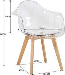 möbel wohnaccessoires dorafair 2er set stuhl transparenter