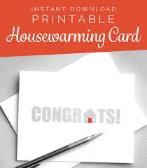Printable Card New House Home Housewarming Congratulations Instant Download Digital Greeting