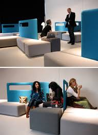 Modular Sofa System Adapts Via Movable Space Dividers