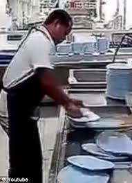 Human Dishwasher Who Can Clean 50 Plates In 10 Seconds