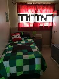 Minecraft Bedroom Decor Uk by Minecraft Bedroom Duvet And Curtains Made By I U0027m In Stitches On