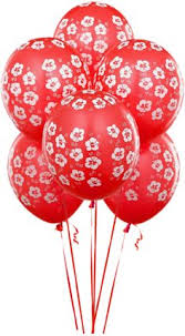 Transparent Red Balloons Clipart