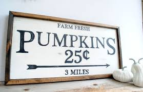 Pumpkin Fall Farmhouse Style Home Decor Wood Sign