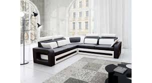canape blanc noir justyou bergamo canapé d angle 82x290x270 blanc noir 1 499 00