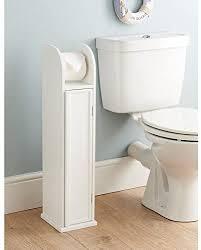 0061 freistehender wc papierrollenhalter holz weiß badezimmer schrank