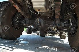 Heavy Truck Suspension And Transmission - View From Under The ...