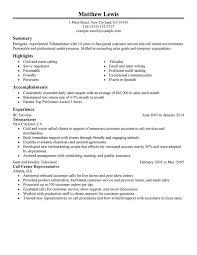 Experienced Telemarketer Resume Sample