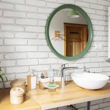 badezimmer set aus bambus und keramik