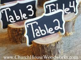 12 Rustic Cedar Place Card Holders