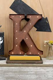 Letters K 12in Battery Operated 17 Warm White LED Lights
