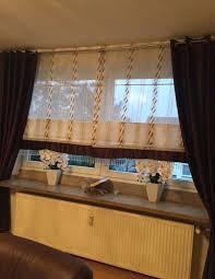 wohnzimmer gardinen rollo mit 3 schals 6 tlg in 45472