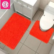 Bright Orange Bathroom Rugs Small Size Orange Chevron Bath Mat