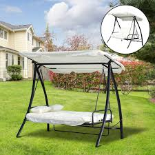CAD $299.99 Outsunny 3 Seater Swing Chair 2-in-1 Lounge ...