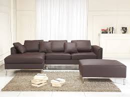 canapé d angle marron canapé d angle gauche avec pouf en cuir marron sofa oslo