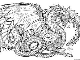 Adults Difficult Dragons Coloring Pages Free Printable Dragon
