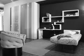 Bedroom Attractive Enchanting Black And White Room And Gray Sofa
