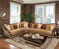 Brown Corduroy Sectional Sofa by Benetti U0027s Italia Beladonna Wood Trim Sectional Sofa Set The