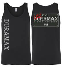 100 Diesel Truck Apparel LBZ Duramax Vintage Sign Double Sided Print Tank Top Aggressive